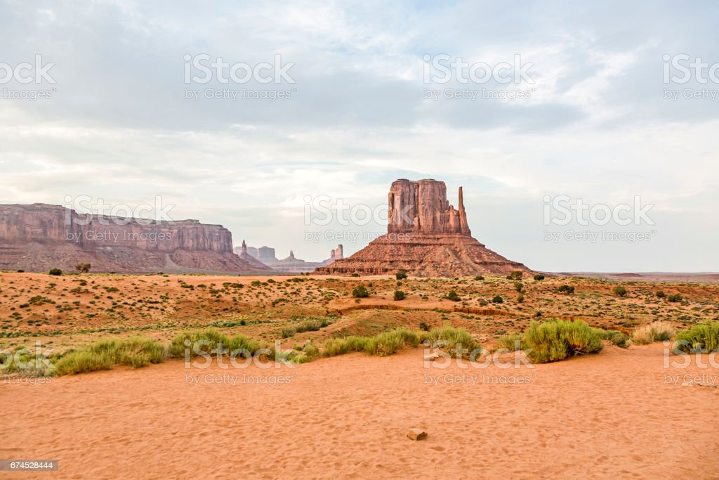 West Mittens Butte in monument valley stock photo