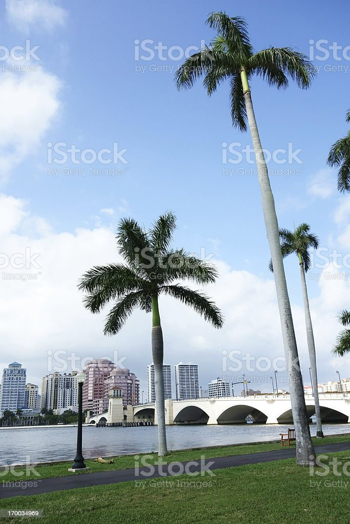 West Palm Beach cityscape stock photo
