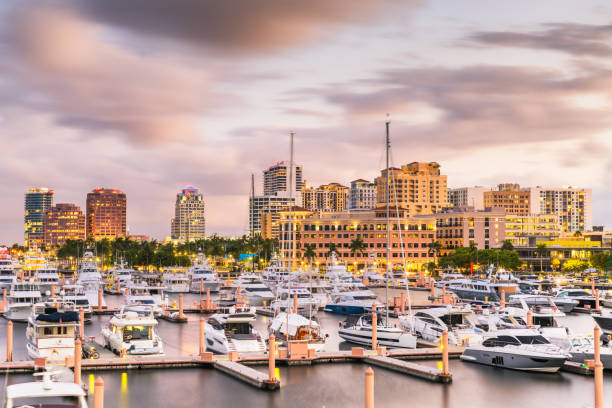 West Palm Beach, Florida, USA Skyline – Foto