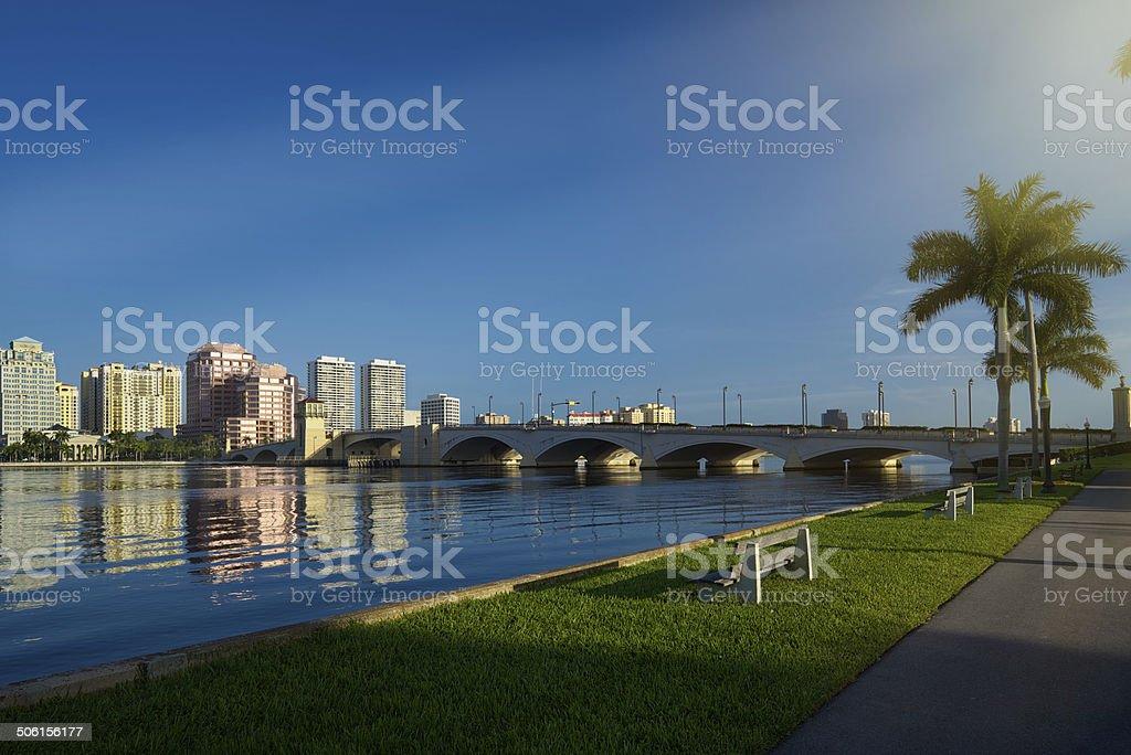 West Palm Beach Skyline royalty-free stock photo