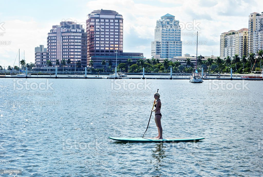 West Palm Beach water activities stock photo