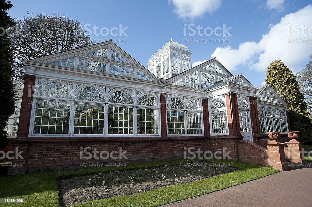 West Park Conservatory, , Wolverhampton, England stock photo