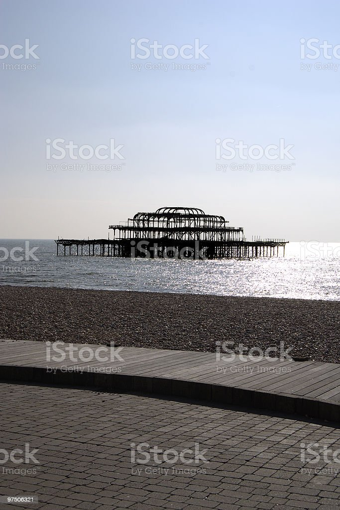 West Pier. Brighton. East Sussex. England royalty-free stock photo