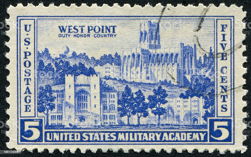 West Point Stamp royalty-free stock photo