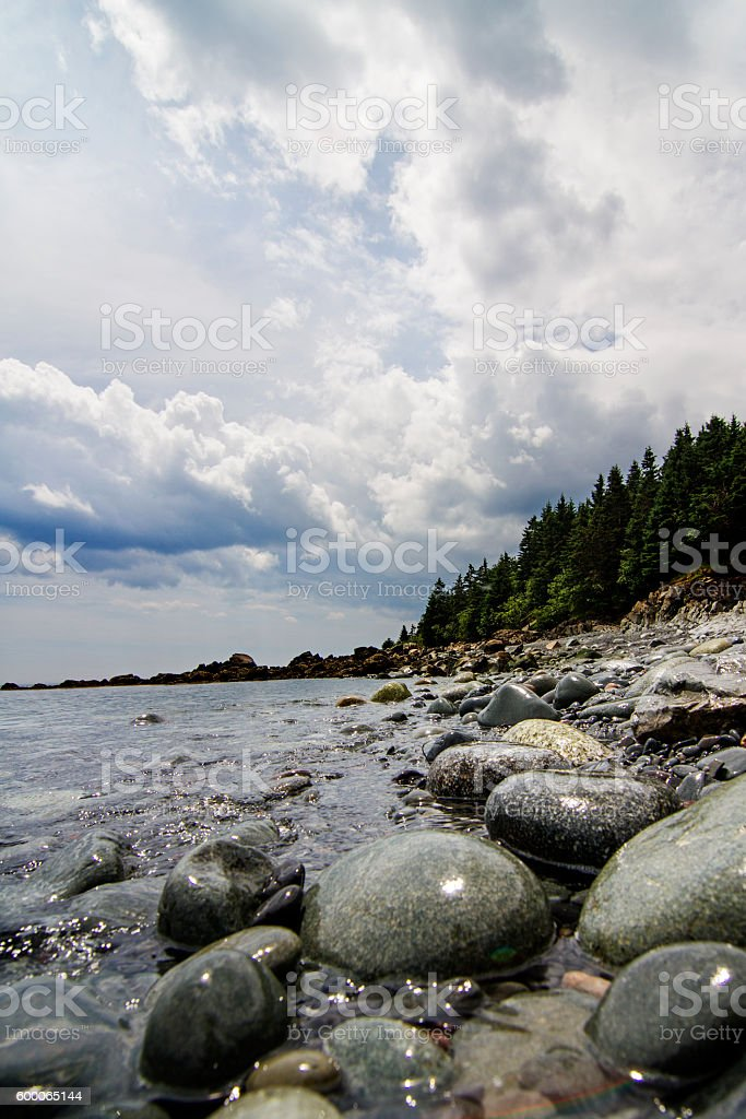 West Quoddy Head beach stock photo