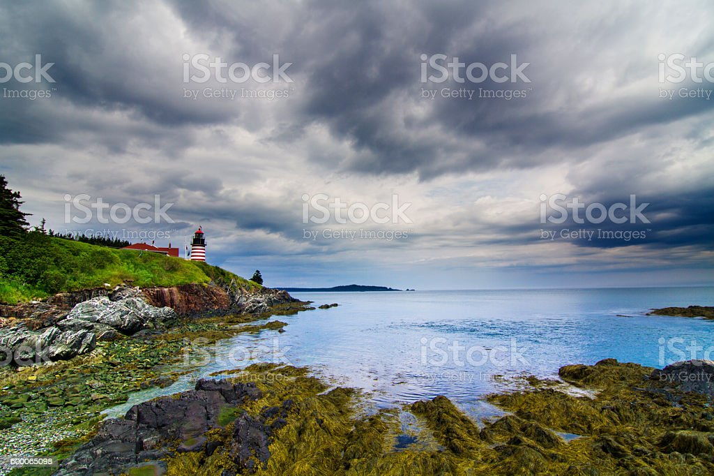 West Quoddy Head Lighthouse stock photo