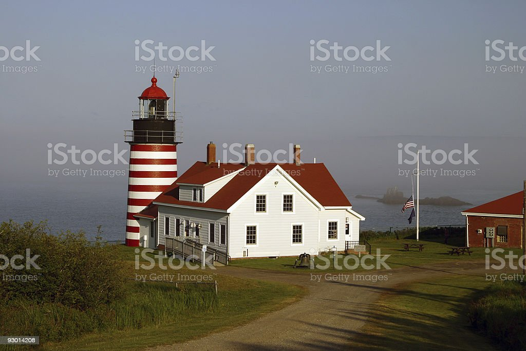 West Quoddy Lighthouse in Maine stock photo