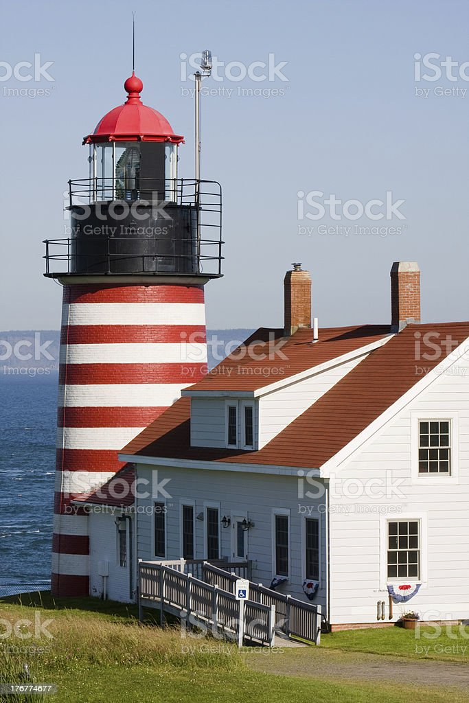 West Quoddy Lighthouse stock photo