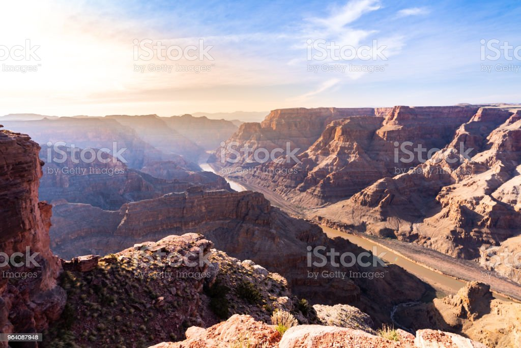 West rim of Grand Canyon - Royalty-free Aerial View Stock Photo