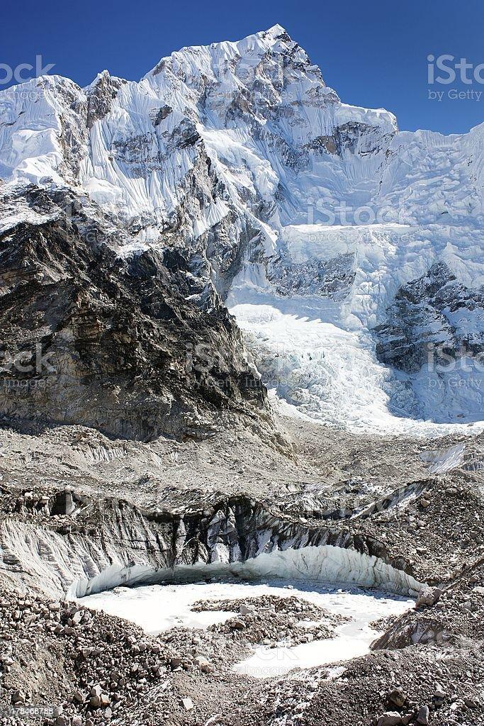 west rock face of Nuptse peak royalty-free stock photo
