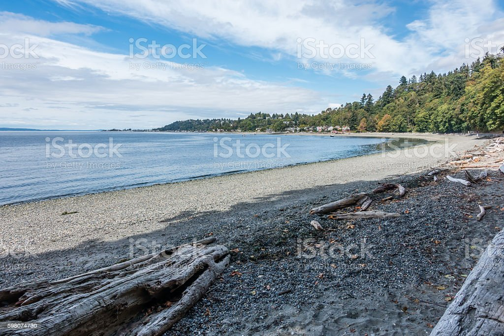 West Seattle Coastline stock photo