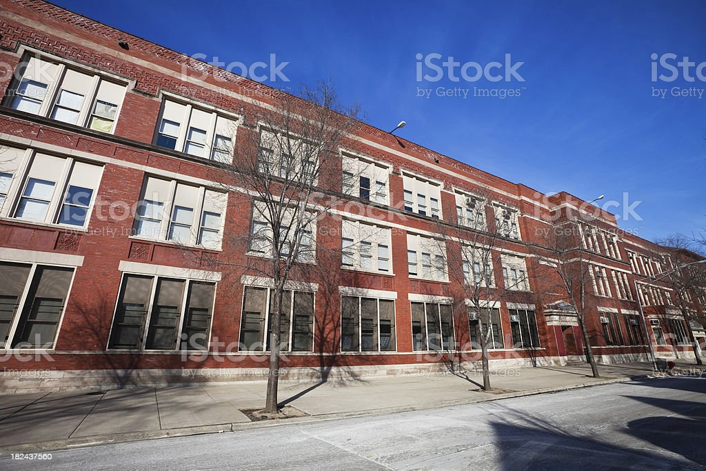 West Side Elementary School in Chicago royalty-free stock photo