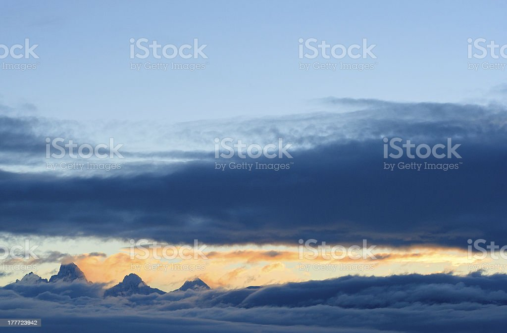 West Slope Dawn stock photo