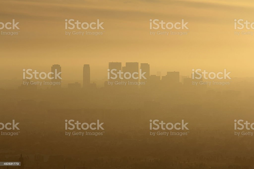 West LA Smog stock photo
