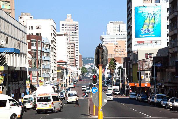 West Street in Durban, Südafrika am Samstag Vormittag – Foto