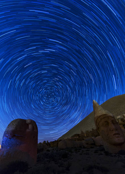 West terrace of Mount Nemrut, Turkey stock photo