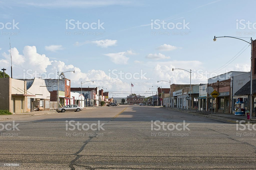 West Texas Town stock photo