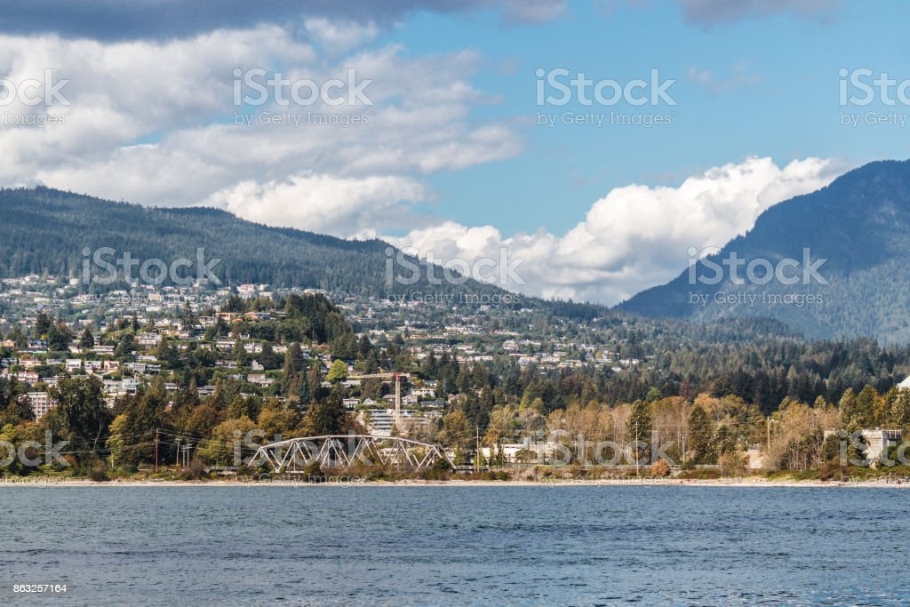West Vancouver and North Vancouver, Canada stock photo