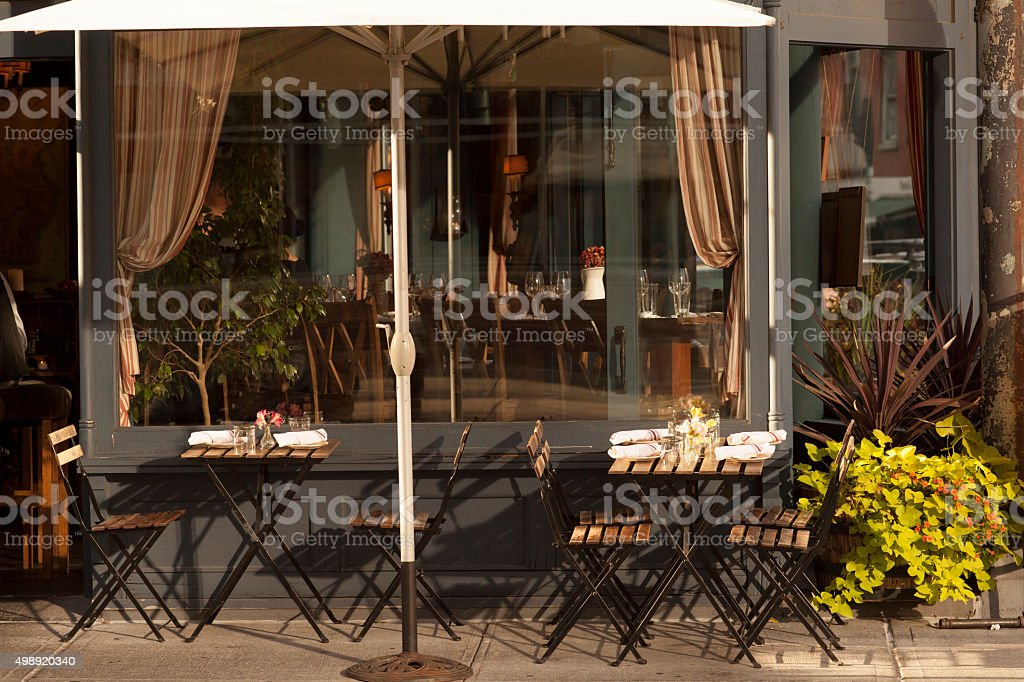 West Village Cafe Restaurant stock photo
