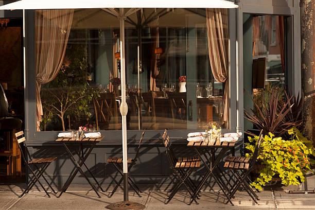 West Village Cafe Restaurant stock photo