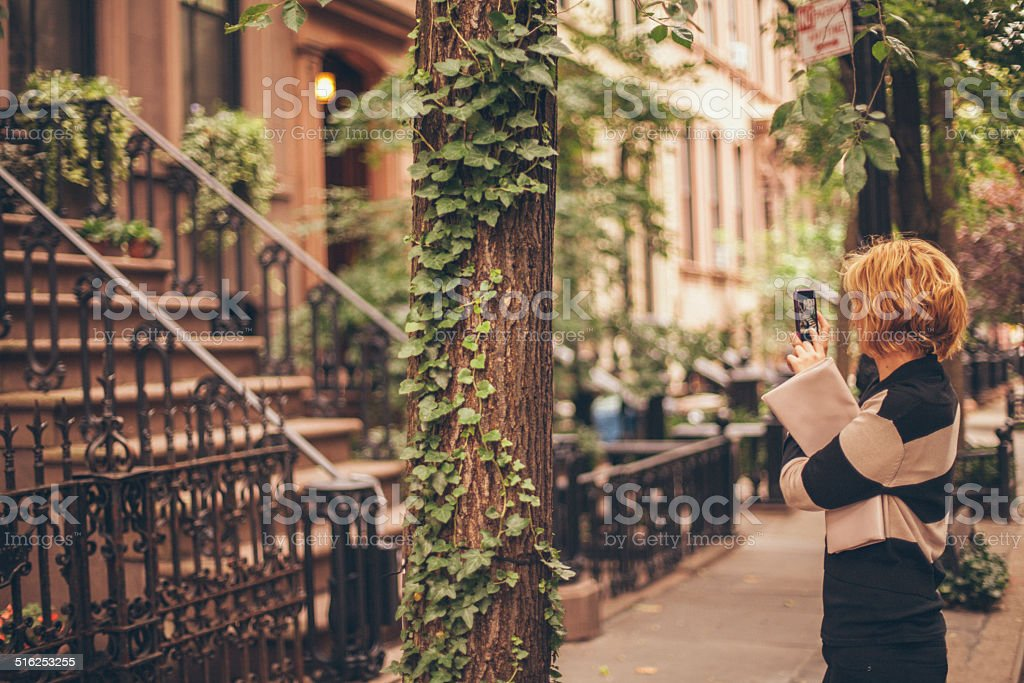 West Village Girl stock photo