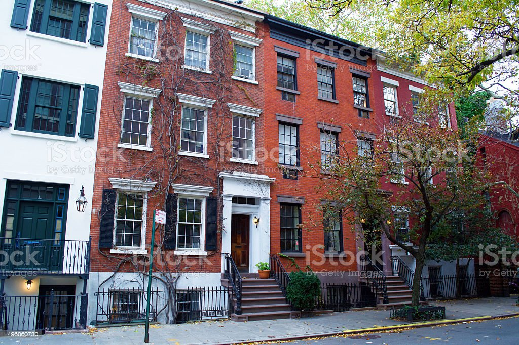 West Village New York City stock photo