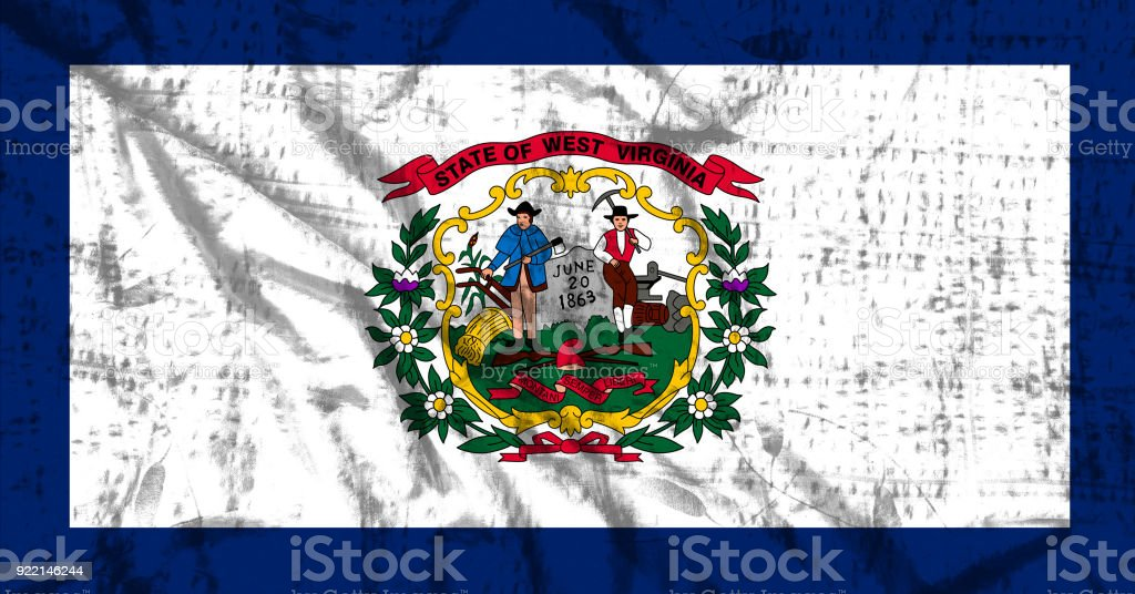West Virginia flag stock photo
