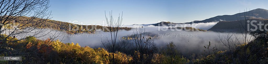 West Virginia Mountain Morning royalty-free stock photo
