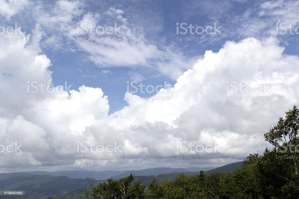 West Virginia mountains stock photo