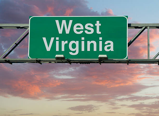 West Virginia Sign A West Virginia road sign concept. west virginia us state stock pictures, royalty-free photos & images