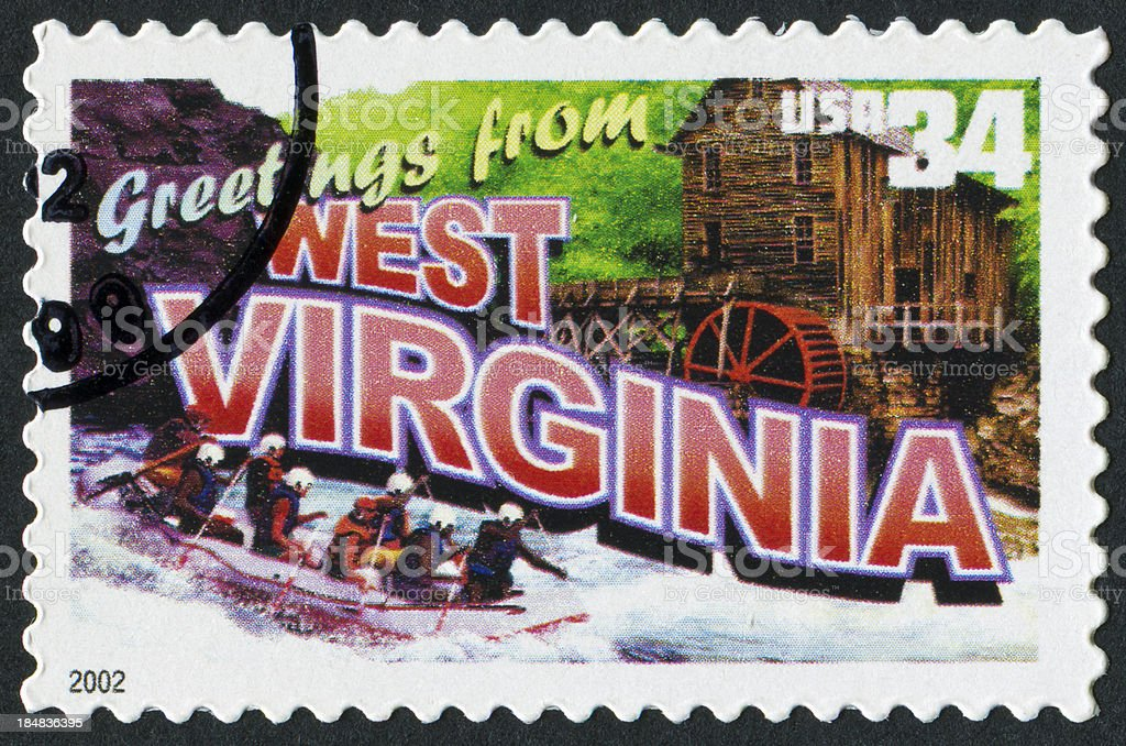 West Virginia Stamp royalty-free stock photo