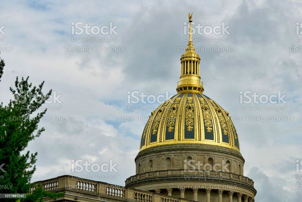West Virginia State Capital Dome stock photo