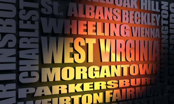 west virginia state cities list - charleston sc map stock photos and pictures