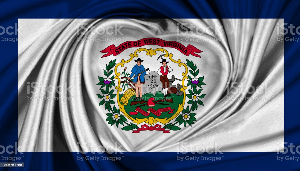 West Virginia State flag stock photo