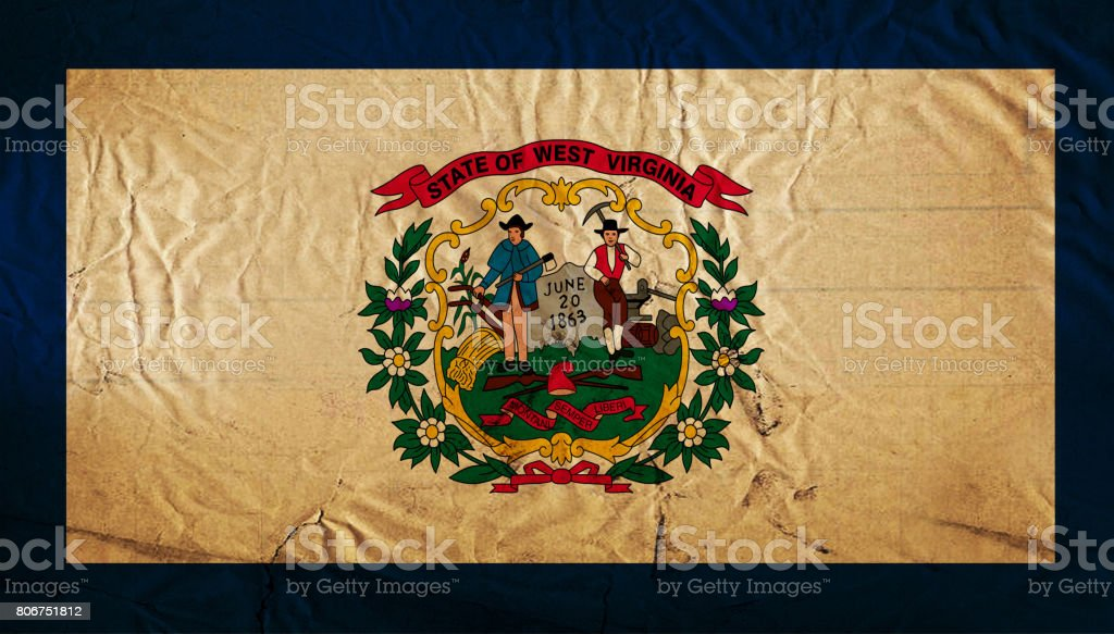 West Virginia State grunge flag stock photo
