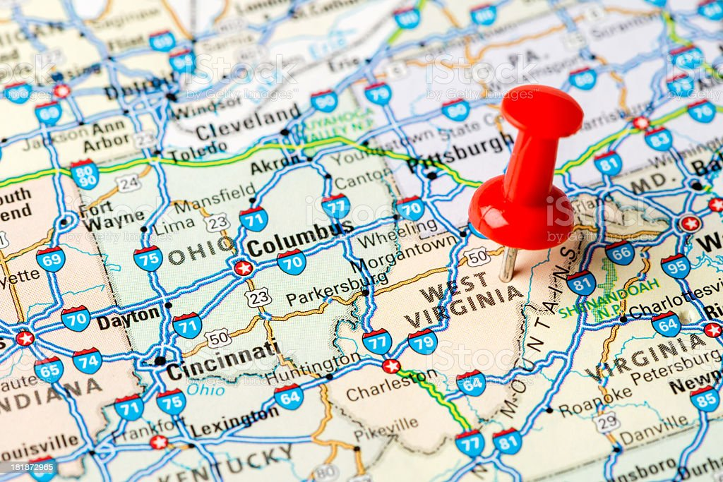 West Virginia state stock photo