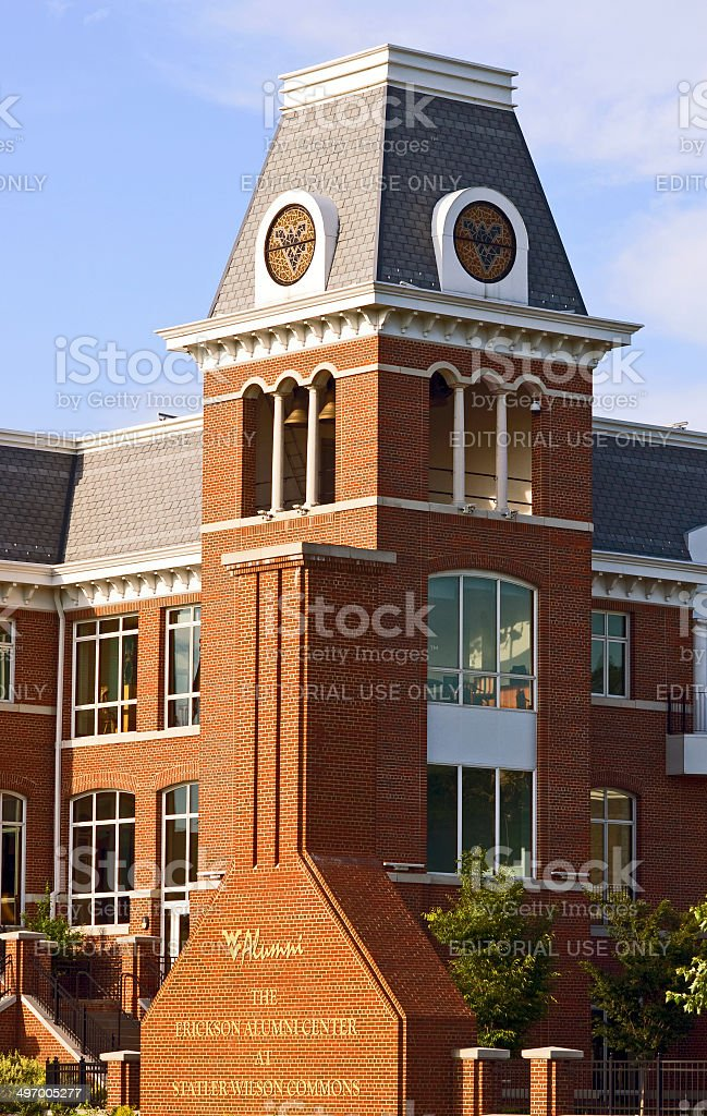 West Virginia University - Alumni Center stock photo