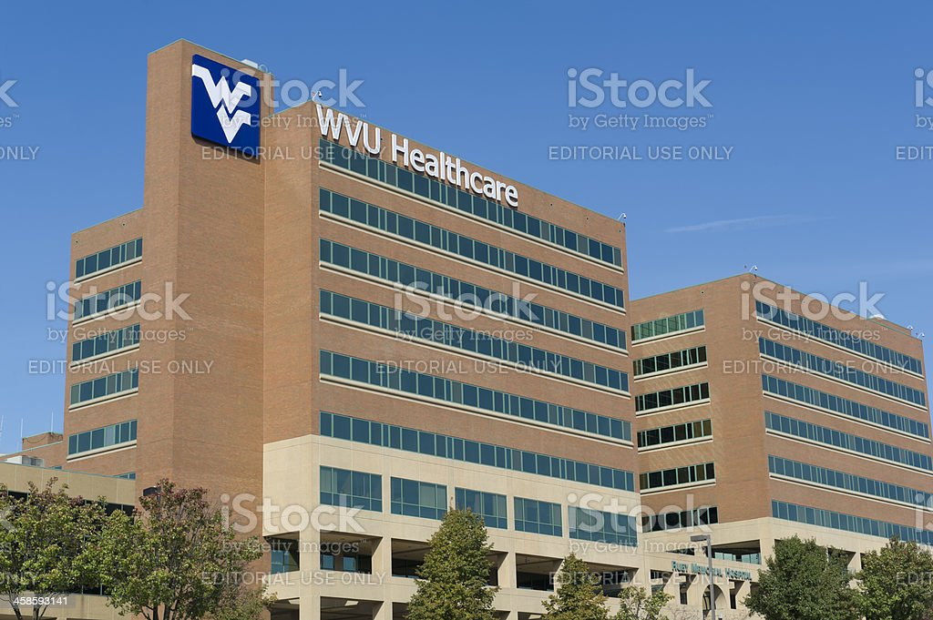 West Virginia University Campus, Ruby Memorial Hospital royalty-free stock photo