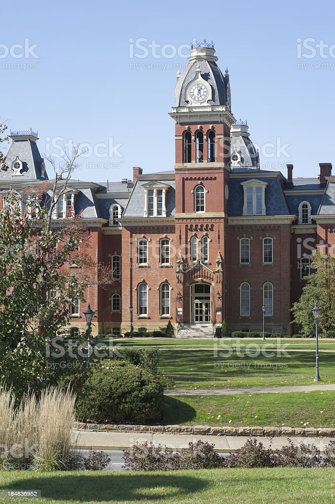 West Virginia University campus, Woodburn Hall, Morgantown, WV stock photo