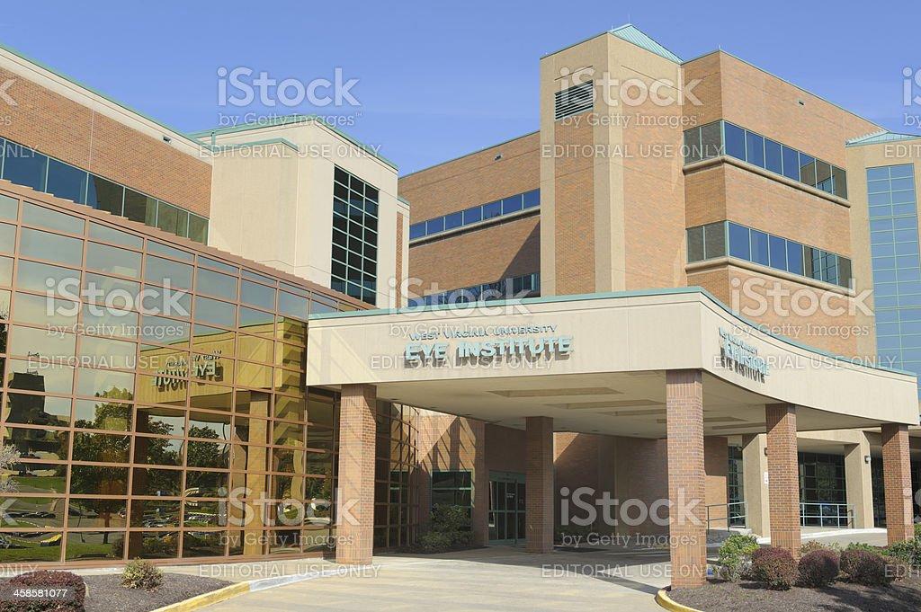 West Virginia University Eye Institute Entrance stock photo