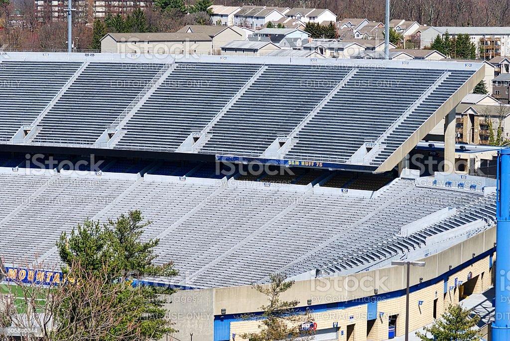 West Virginia University Mountaineer Football Stadium stock photo
