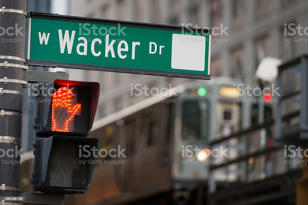 West Wacker Drive stock photo