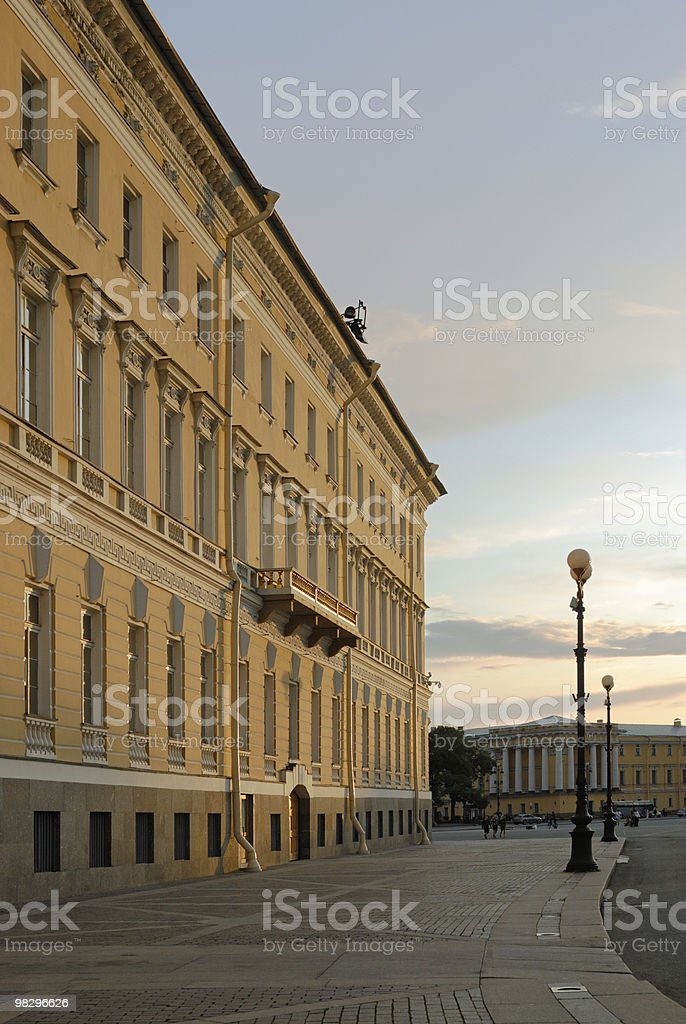 West wing of General Staff Building in Saint-Petersburg royalty-free stock photo