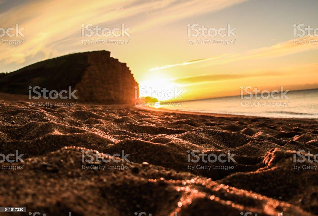 Westbay east cliff  dorset stock photo