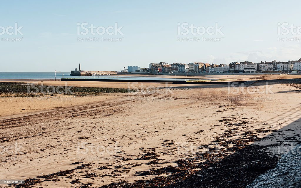 Westbrook Bay and Margate Bay in Kent, South-east England, UK stock photo