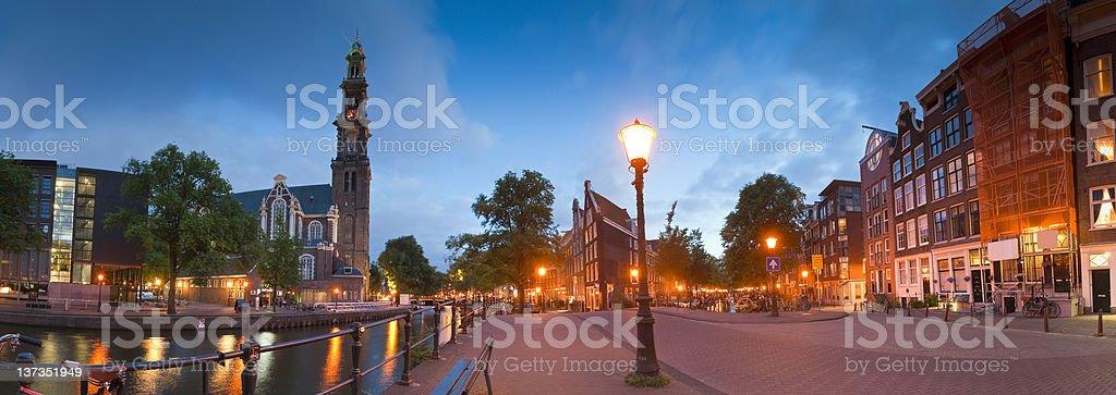 Westerkerk Church, Anne Frank House, Amsterdam stock photo
