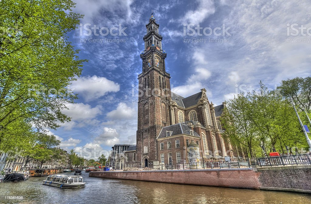 Westerkerk in Amsterdam stock photo