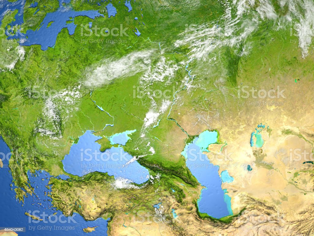 Western Asia On Planet Earth stock photo | iStock