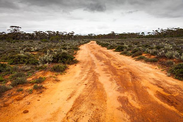 Western Australian Outback Dirt Road stock photo