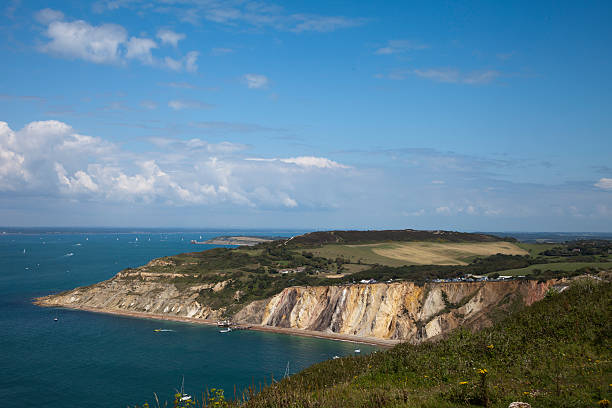 Western Coast on Isle of Wight stock photo